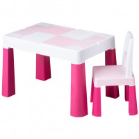 Tega Multifun detská sada stolček a stolička - ružová