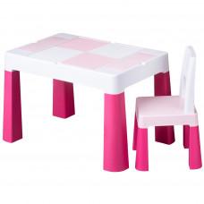 Tega Multifun detská sada stolček a stolička - ružová Preview