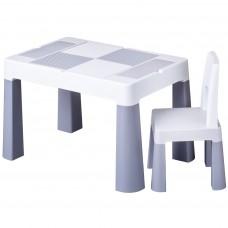 Tega Multifun detská sada stolček a stolička - sivá