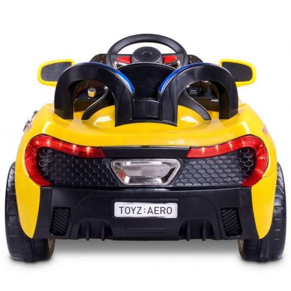 Elektrické autíčko Toyz Aero - 2 motory a 2 rýchlosti žlté