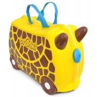 TRUNKI cestovný kufrík a odrážadlo Žirafa