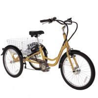 ULTIMATE TRIO elektrický tricikel zlatý 2019
