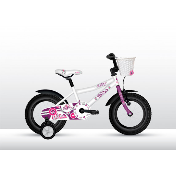 "VEDORA dievčenský bicykel Puding s postrannými kolieskami 16"" 2019"
