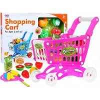 Nákupný košík s ovocím a zeleninou - ružový